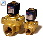 2/2 way solenoid valve with lift-assisted piston al04