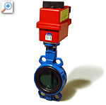 Butterfly valve with electric actuator sylax-r1