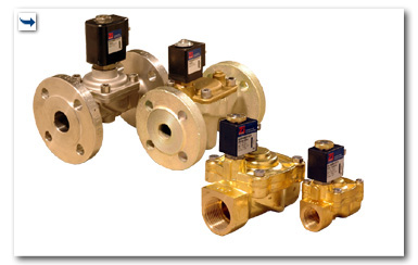 Solenoid valves servo-assisted